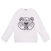 Kenzo White Beaded and Embroidered Tiger Sweathshirt 01