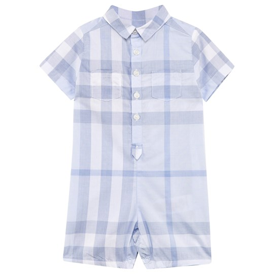 Burberry Check Romper Isblå Ice Blue