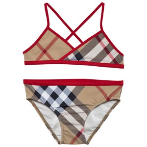 Image of Burberry Check Bikini with Contrast Trim New Classic Check 4 years (2887907219)