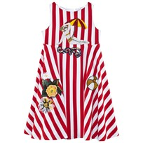 Dolce & Gabbana Red and White Stripe Beach Applique Dress X0878