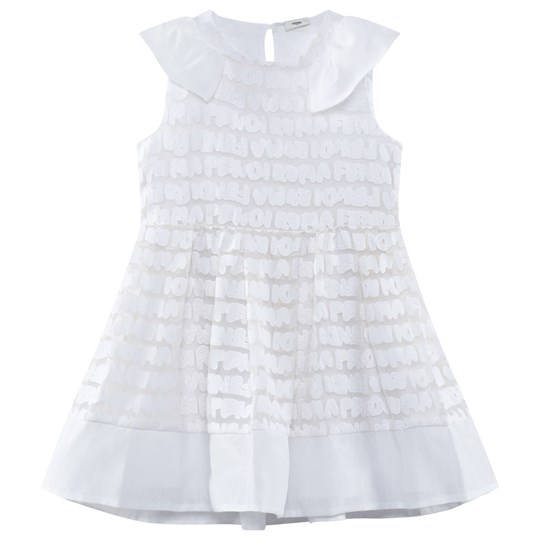 Fendi White Fendi Roma Net Dress F0QA0
