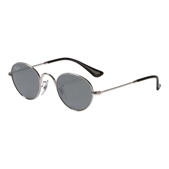 Ray-ban Round Junior Sunglasses Silver/Grey Mirror 212/6G
