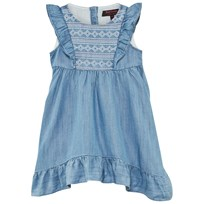 Juicy Couture Blue Chambray Denim Embroidered Dress MATTINDA WASH