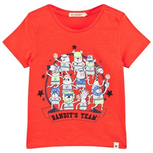 Image of Billybandit Bright Orange Bandit Team Print Tee 3 months (2995679615)