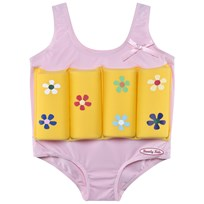 Beverly Kids Yellow Flower Print Float Suit MORGENTAU
