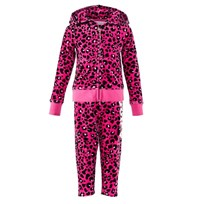 Juicy Couture Hot Pink and Black Leopard Jewelled Tracksuit DRAGON FRUIT MONARCH LEOPARD