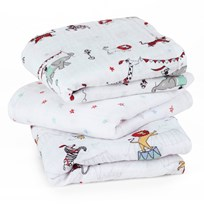 Aden + Anais 3 Pack of Circus Print Muslin Squares Vintage Circus