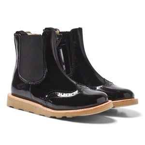 Image of Young Soles Francis Patent Chelsea Boots in Black 27 (UK 9.5) (3058850151)