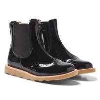 Young Soles Francis Patent Chelsea Boots in Black Black Patent/ Leather
