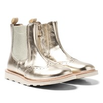Young Soles Francis Leather Chelsea Boots in Gold Gold Leather