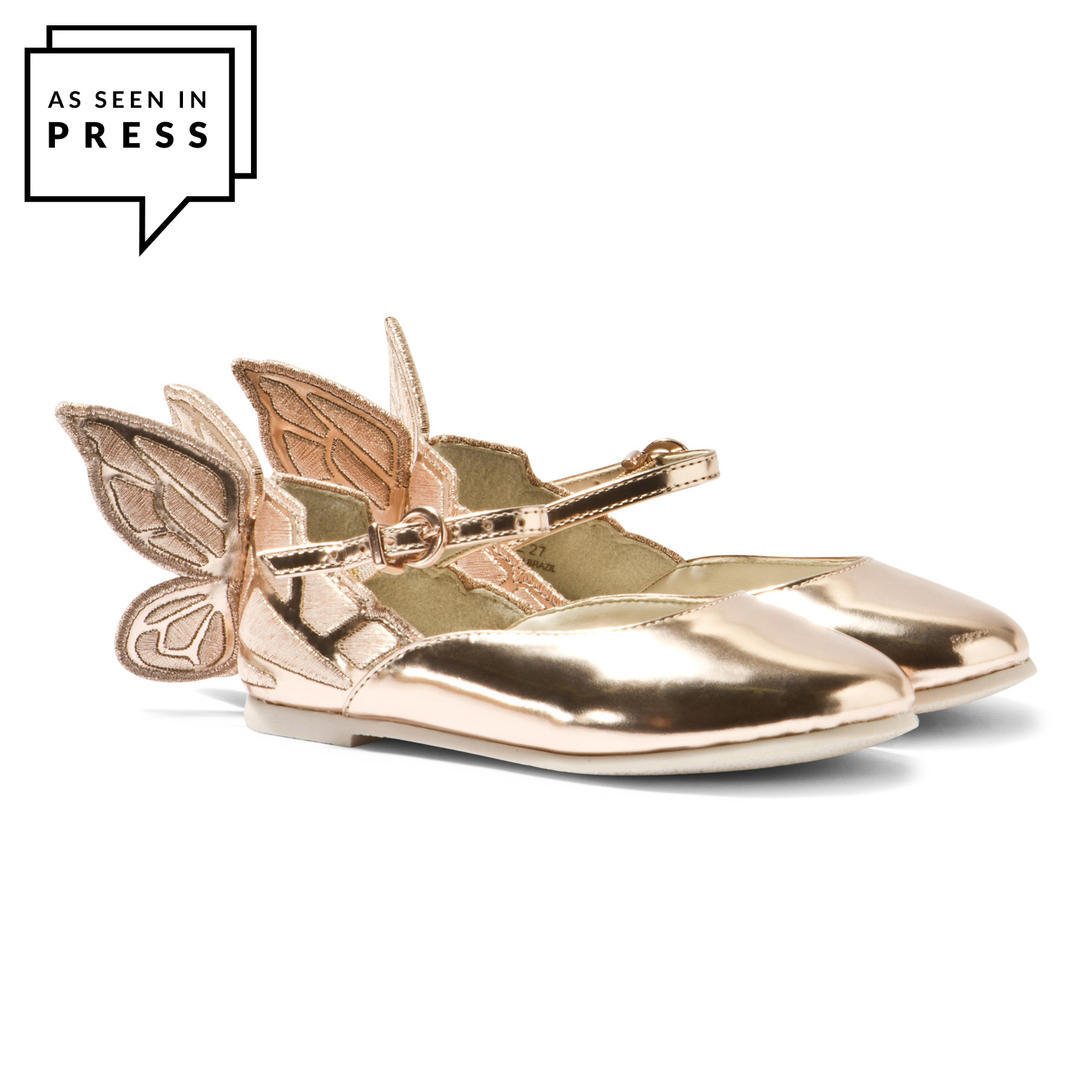 Chiara Mini Butterfly Shoes Rose Gold