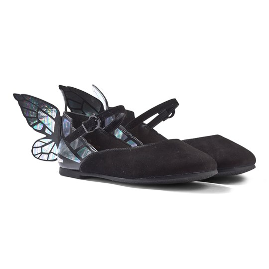 Sophia Webster Mini Chiara Mini Black and Iridescent Butterly Shoes Black/ Iridescent