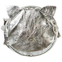 Easy Peasy Silver Metallic Leather Cat Bag Silver