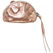 Easy Peasy Rose Gold Metallic Leather Mouse Purse Pink