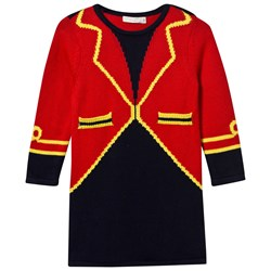 Stella McCartney Kids Red Bow Ringmaster Knit Dress