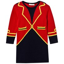 Stella McCartney Kids Red Bow Ringmaster Knit Dress 6564