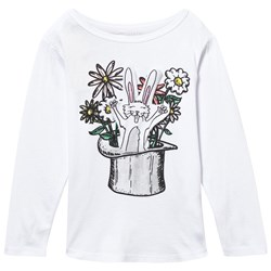Stella McCartney Kids White Barley Rabbit In A Hat Tee
