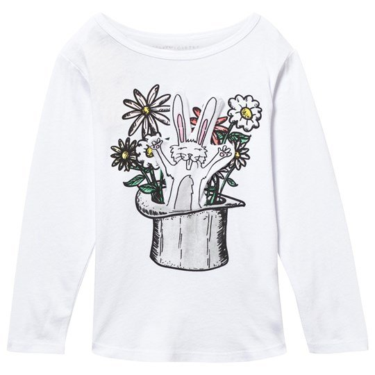 Stella McCartney Kids White Barley Rabbit In A Hat Tee 9082