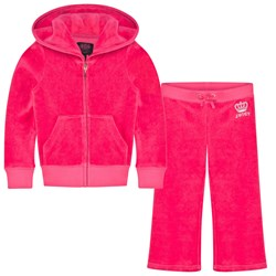 Juicy Couture Hot Pink Diamante Logo & Crown Tracksuit