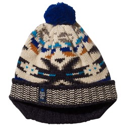 Catimini Ecru, Blue and Grey Fair Isle Hat