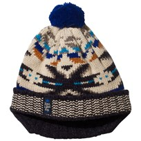 Catimini Ecru, Blue and Grey Fair Isle Hat 12