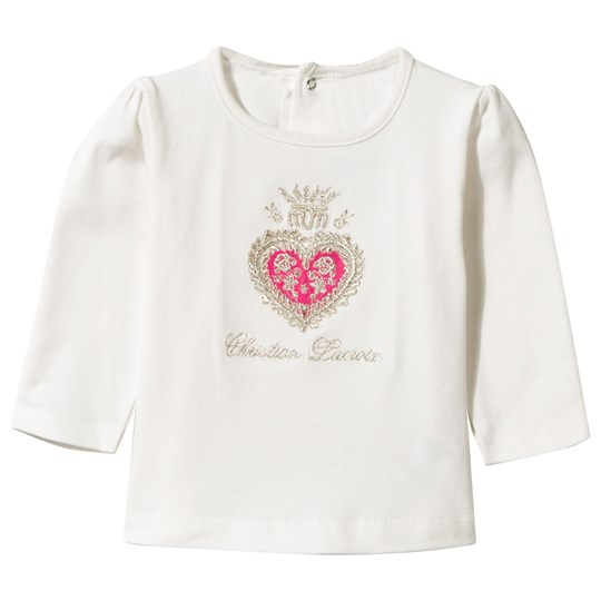 Christian Lacroix White Embroidered Long Sleeve Tee 003 PEARL