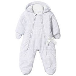 Christian Lacroix Grey Fleece Lined Printed Snowsuit with Mittens