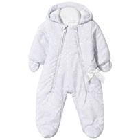 Christian Lacroix Grey Fleece Lined Printed Snowsuit with Mittens 400 LIGHT GREY
