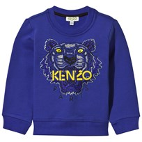 Royal Blue Tiger Embroidered Sweatshirt