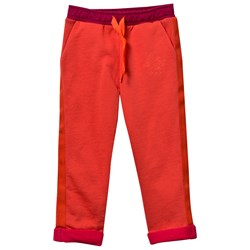 Kenzo Coral Track Pants with Contrast Turn-Ups