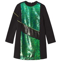Kenzo Black and Green Sequin Front Milano Dress 02