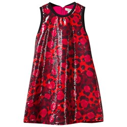 Kenzo Multi Leopard Print and Sequin Jersey Dress