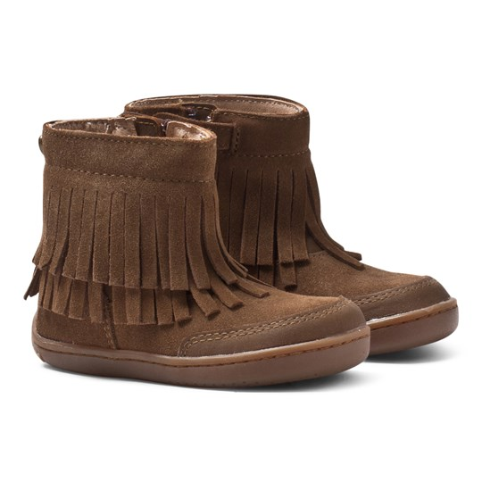 Mayoral Brown Fringe Zip Ankle Boots 10M Chocolate