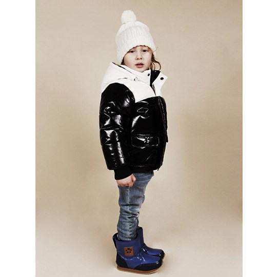 Mini Rodini Puff Jacket Black/White Black