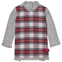 Mayoral Grey and Red Flannel Tartan Dress 79