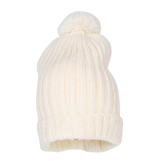 Mini Rodini Knitted Hat With Ball White White
