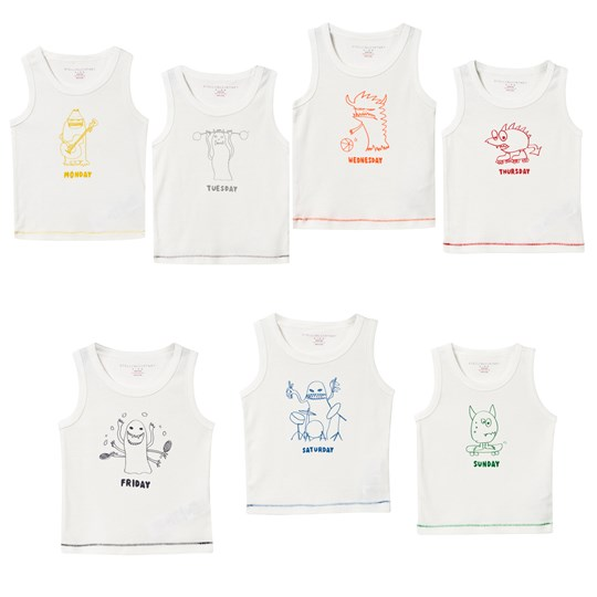 Stella McCartney Kids Barney Days of the Week Vest Set 9082