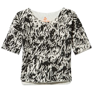 Image of Noe & Zoe Berlin Black Scribbles Print Long Sleeve Tee 0-3 months (2844036685)