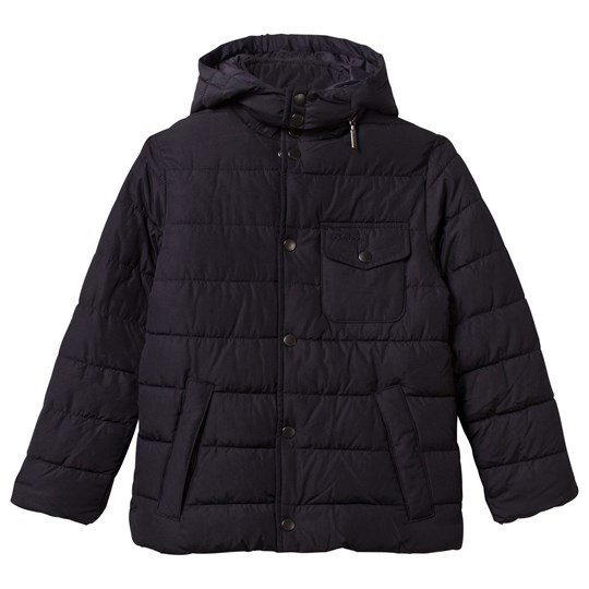 Barbour Navy Cowl Quilted Coat with Detachable Hood NY71