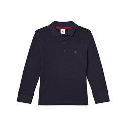 Petit Bateau Navy Jersey Polo with Logo