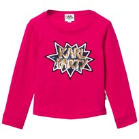 Karl Lagerfeld Kids Hot Pink Karl Party Sequin Tee 48M