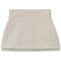 Karl Lagerfeld Kids Cream Quilted Fleece Skirt with Organza Pockets 519