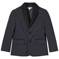 Little Marc Jacobs Navy Pinstripe Flannel Suit Jacket 811