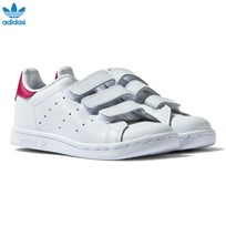 adidas Originals White and Pink Infants Stan Smith White