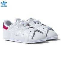 adidas Originals White and Pink Stan Smith Crib Trainers White