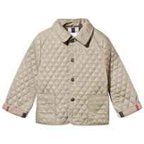 Burberry Dark Beige Quilted Coat Mink