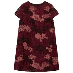Burberry Deep Claret Embroidered Lace Dress (TAKEDOWN WMNS)