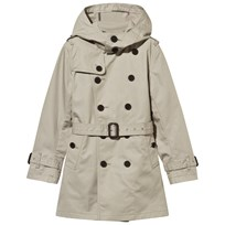 Burberry Beige Cotton Trench Coat Stone