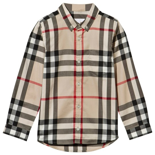 Burberry Beige New Classic Check Button Down Shirt New Classic Check