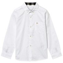 Burberry White Button Down Oxford Shirt White